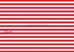 Lillestoff Ringel Jersey Red and White 50cm x 150cm