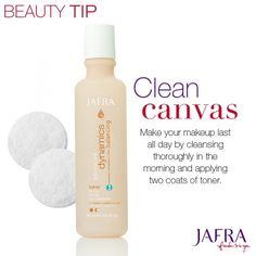 Keep your face fresh and flawless with JAFRA Dynamics toners. Ask me for details.