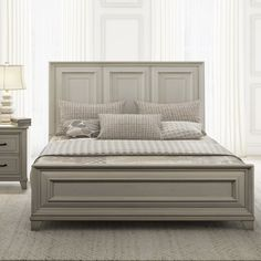 Beds You'll Love in 2019 Bedroom Furniture Stores, Furniture Deals, Dresser Sets, Upholstered Platform Bed, White Paneling, Headboard And Footboard, Panel Bed, Bed Sizes, Or Antique