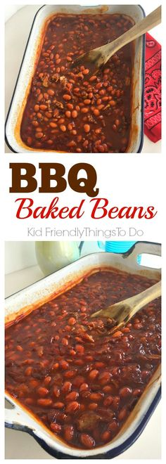 The best barbecue baked beans! Perfect for potlucks, holiday dinners and summer backyard picnics! - http://KidFriendlyThingsToDo.com