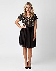 Lovedrobe Luxe Embellished Skater Dress