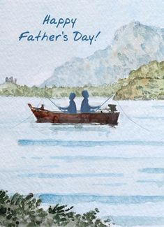 Fishing Watercolor Funny Father's Day Card A Fishing Watercolor Wish for Father's Day Kids Fathers Day Gifts, Funny Fathers Day Card, Happy Father Day Quotes, Happy Fathers Day, Watercolor Fish, Watercolor Cards, Diy Father's Day Cards, Boat Drawing, Bullet Journal Lettering Ideas
