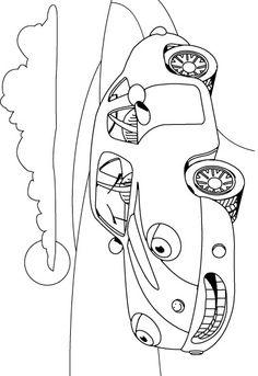 kleurplaat Auto - Auto