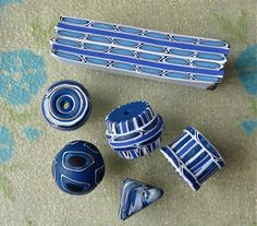 Knightwork: Playing with Clay: Polymer Clay Border Canes and Beads