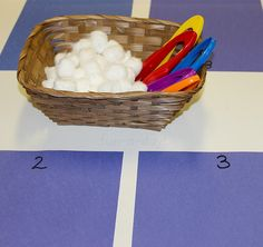 Preschool Winter Math - Counting Snowballs