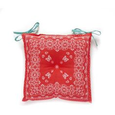 The Pioneer Woman Bandana Reversible Chairpad, Red