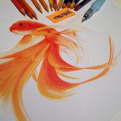 As pinturas realistas de Karla Mialynne são criadas principalmente com lápis de cor/água, marcadores coloridos e tinta acrílica. // The realist paintings of Karla Mialynne are primarily created with crayons / water, colored markers and acrylic paint.