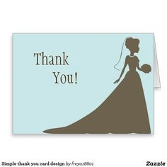 Simple thank you card design