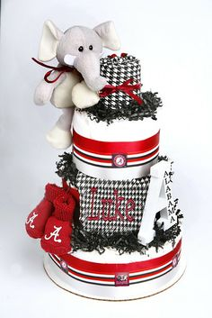 Alabama Houndstooth Diaper Cake more at Recipins.com