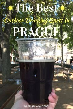 Planning a trip to Prague in the summertime? Here is where to find the best beer gardens in Prague, Czech Republic | Beer Gardens Prague | Prague in the summer | Europe beer gardens