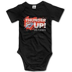 Oklahoma City Thunder 'Thunder Up' 2016 Playoffs Splatter Cool Unisex Baby Clothes Onesie -- Awesome products selected by Anna Churchill