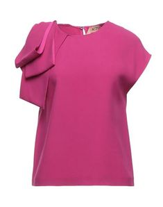 Couleur Fuchsia, Textiles, N21, Round Collar, Blouses For Women, Short Sleeves, Tops, Products, Fashion