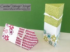 Triangular Gift Box with Lid - Video Tutorial using Blooms and Wishes by Stampin' Up