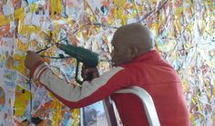 South African Artist Creates Masterpieces By Painting With Plastic Art From Recycled Materials, South African Artists, We Can Do It, Meet The Artist, Art Forms, Unique Art, Dinosaur Stuffed Animal, Projects To Try, Recycling