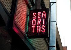 neon type at Senoritas, Melbourne
