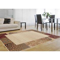 Bliss Rugs Salinas Transitional Area Rug, Beige