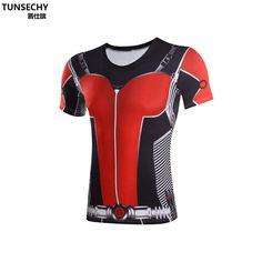 buy online 4c30b db519 Marvel Ant Man Printed Fitness Shirt