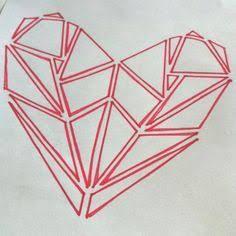 Resultado de imagem para geometric heart tattoo