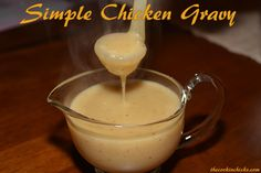 Simple chicken gravy with chicken broth. This is a keeper - very easy & very good. Simple Chicken Gravy Recipe, Chicken Gravy From Broth, Chicken Gravy From Scratch, Homemade Chicken Gravy, Chicken Gravey, Home Made Gravy, Hawaiian Haystacks, Sauce Recipes, Chicken Recipes