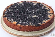 Blåbärsmandelkakan ljummen Vanilla Cake, Nutella, Tiramisu, Deserts, Sweets, Ethnic Recipes, Food, Polenta, Cakes
