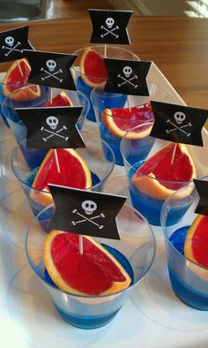 Jelly Pirate Ships - perfect make ahead party food!
