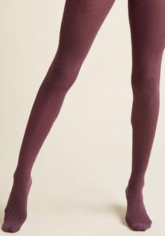 #ModCloth - #ModCloth Fashionably Emulate Tights in Plum - AdoreWe.com