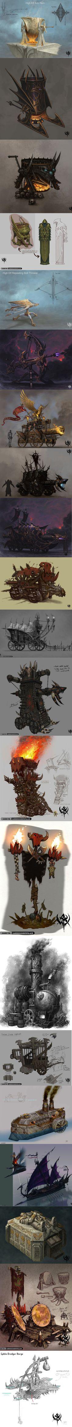 Warhammer Art, Warhammer Fantasy, Warhammer Online, Fantasy Background, Art Background, Prop Design, Game Design, Fantasy Online, Fantasy Pictures