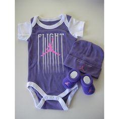 Nike Jordan Infant New Born Baby Boy/Girl Shoulder Bodysuit, Booties... ($35) ❤ liked on Polyvore