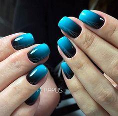 Semi-permanent varnish, false nails, patches: which manicure to choose? - My Nails Stylish Nails, Trendy Nails, Fancy Nails, My Nails, Blue Shellac Nails, Fingernails Painted, Nice Nails, Nail Polishes, Acrylic Nail Designs