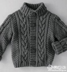 15例儿童款美衣编织图片欣赏_儿童毛衣_编织人生手工编织网                                                                                                                             Más