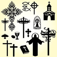 Christian Elements SVG Collection - $5.99 : SVG Files for Silhouette, Sizzix, Sure Cuts A Lot and Make-The-Cut - SVGCuts.com