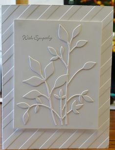 Fresh Foliage by Patti S. Brown - Cards and Paper Crafts at Splitcoaststampers - Informationen zu Fresh Foliage by Patti S. Brown – Cards and Paper Crafts at Splitcoaststampers P - Card Making Inspiration, Making Ideas, Leaf Cards, Beautiful Handmade Cards, Handmade Flowers, Hand Stamped Cards, Embossed Cards, Card Making Techniques, Get Well Cards