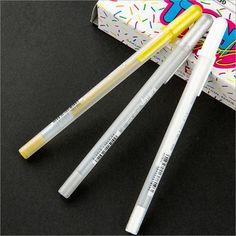 12 Pcs/Lot Japan Imported Sakura White Highlight Gel Pen Child Graffiti Writing Drawing Mark School Manga Painting Supplies 7062 #Affiliate