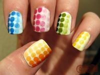 Ombre Dotted Nails