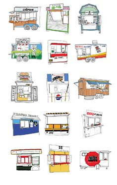 Portland Food Carts I have almost eaten at all if these carts! - Delivery Food - Ideas of Delivery Food - Portland Food Carts I have almost eaten at all if these carts! Coffee Carts, Coffee Truck, Coffee Shop, Food Cart Design, Food Truck Design, Food Stall Design, Kiosk Design, Cafe Design, Portland Food Carts