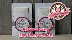 Tutorial: Verpackung Freudentränen für Hochzeit mit Material von Stampin...