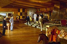 Goldfinger (1964) One of Adam's most memorable designs was that of the large wood-paneled Rumpus Room in the 1964 film Goldfinger.