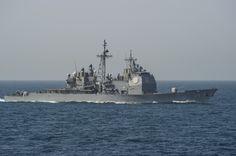 USS Philippine Docks in Barcelona, Spain Ticonderoga Class, Carrier Strike Group, Go Navy, Us Navy Ships, United States Navy, Power Boats, Submarines, Battleship, Military History