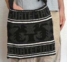 Wool Hand-Knit Messenger Bag  Guatemala Sahel Bag by TheMayaMarket