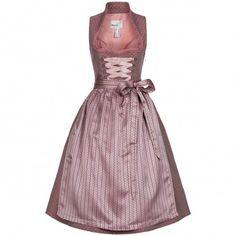 Langes Dirndl Lilith in Rosa von Marjo Trachten Elegant, Victorian, Formal Dresses, Fashion, Diamond Pattern, Dirndl Blouse, Work Attire, Victorian Dresses, Dusty Pink
