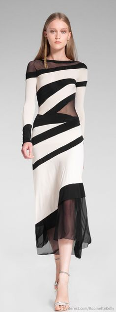 Donna Karan - Resort 2014 - don't like all of the lines on this one, but I love the mix of opacities