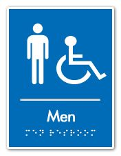 Bathroom Sign Handicap handicap men & women's ada restroom sign | ada braille signs