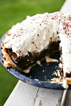 Kahlua Chocolate Cream Pie by Foodie with Family