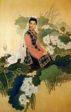 Zhao Guojing and Wang Meifang. painting on silk
