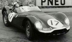 1958 Spa Grand Prix : Masten Gregory Lister-Jaguar Type XK #17 (s/n #BHL104/341SG), Ecurie Ecosse, Winner. (ph: www.motorsporthystory.ru)