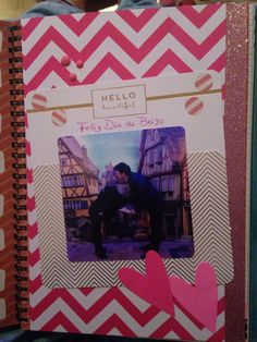 """Scrapbook Especial homenagem """"Dia do beijo"""""""