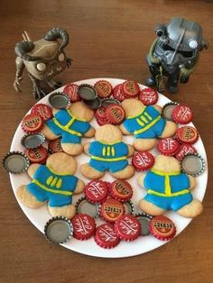 These Fallout Inspired Cookies Look Sweeter Than Sugar Bombs - Video Game Memes Fallout Tips, Fallout Game, Eat For Energy, Ice Ice Baby, Baking Cupcakes, Cookie Designs, Food Themes, Bake Sale, Birthday Parties