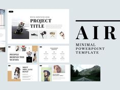 Air Minimal PowerPoint Template by Templates