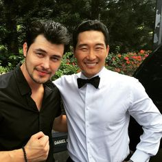Instagram mrchristophersean : My idol. Thank you for being a mentor and an amazing soul. Thank #hawaii50 for allowing me to meet @danieldaekim :)  ♥♥♥