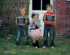 don't mess with her, sibling photos, fun sibling photos,
